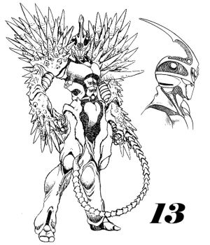 Guyver 13 Line art by lokicube