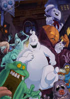The Real Ghostbusters comic cover by T-RexJones