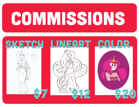 Commissions Banner -- Open! by SushiDonuts