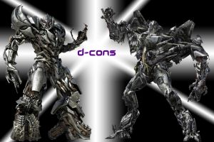 D cons-Starscream and Megatron by DeviantDolphinART