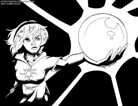 Rose and the magic cue ball by Tiquitoc