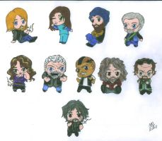 Sons of Anarchy - SAMCRO Chibis by Slayer730