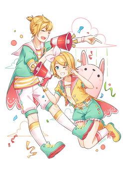 Happy 9th Birthday Rin and Len!! by usarei