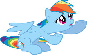 Rainbow Dash Y U NO Believe in Me? by Flizzick