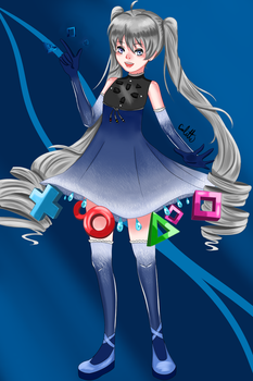 Playstation Personification by NakamuraHaru-01