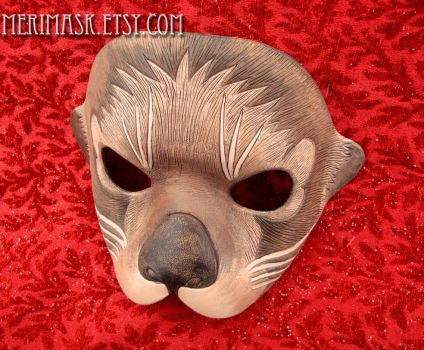 Leather Sea Otter Mask 2015 by merimask
